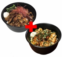 すごうまマヨカルビ丼×やわらか炭火焼鳥丼