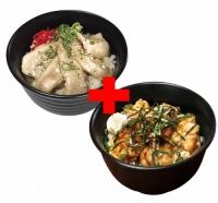トントロ丼×やわらか炭火焼鳥丼