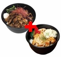 すごうまマヨカルビ丼×タルタルチキンステーキ丼