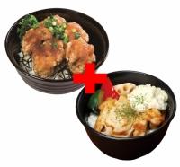とりからおろし丼×タルタルチキンステーキ丼