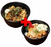 やわらか炭火焼鳥丼×タルタルチキンステーキ丼